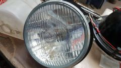 New Genuine Lucas Headlamp early 105E Anglia with Bulb